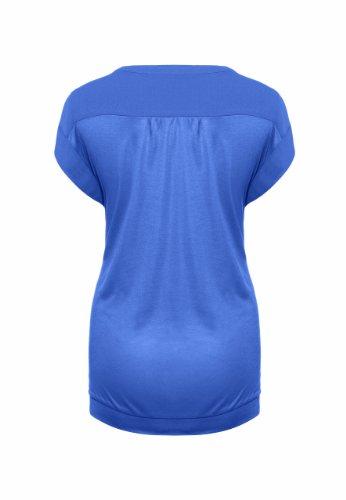 Bellybutton - Haut Maternité - Manches 1/2 - Femme Bleu (Steel Blue)