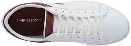 Lacoste Herren Straightset G316 3 Low-Top Weiß (Wht/Red 286)