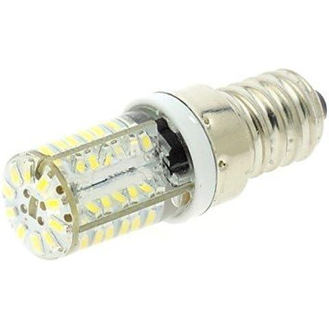 E14 3w 58x3014 SMD llevó 200lm luz blanca 6000k bombilla fresca de maíz con cubierta de gel de sílice (ac 220v) ( Color de Luz : Blanco Frío