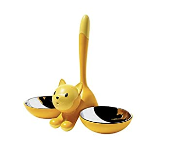 Alessi - AMMI09 Y - Tigrito - Gamelle pour chat - Jaune
