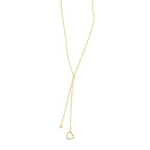 luxurman-friendship-14k-yellow-gold-diamond-cut-round-wheat-necklace-chain-with-open-heart-element-2