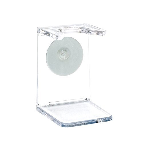 MÜHLE - Support pour blaireau de rasage, en plastique transparent, avec ventouse