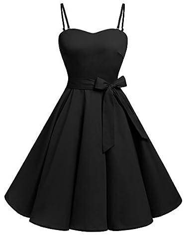 Robe Noir Vintage - Bbonlinedress modèle 3 Vintage rétro 1950's Audrey