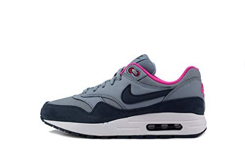 Nike Damen Air Max 1 (gs) Leichtathletikschuhe, Mehrfarbig (Obsidian Mist/Monsoon Blue/Laser Fuchsia 400), 37.5 EU -