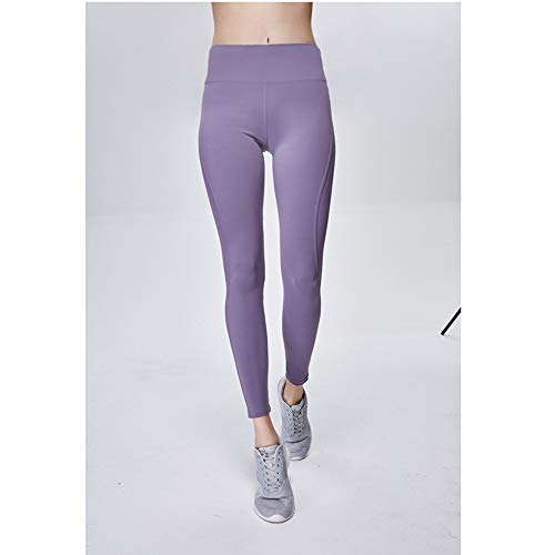 Yogahosen Für Frauen Damen High WAIS Workout Leggings Yogahosen Activewear Hosen Shapewear mit hoher Taille (Farbe : Purple, Size : L)