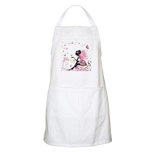 whiangfsoo Whimsical Rosa Fiore Fata ragazza farfalle grembiule da cucina - Black Cat Bbq Grembiule