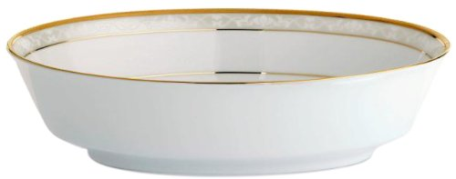 Noritake Hampshire Oval Vegetable Bowl, Gold by Noritake Noritake Oval Vegetable Bowl