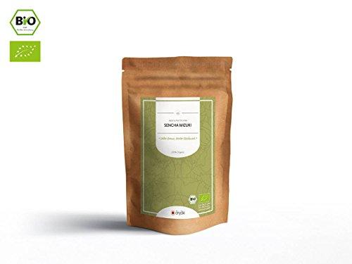 Japanischer Grüner Tee Sencha Mizuki, BIO-zertifiziert, Super-Premium, beschattet. 50 g, lose, nicht aromatisiert. Aus kleinem Tee-Garten Präfektur Fukuoka, Insel Kyushu im Süden Japans: Geheimnisvoll,