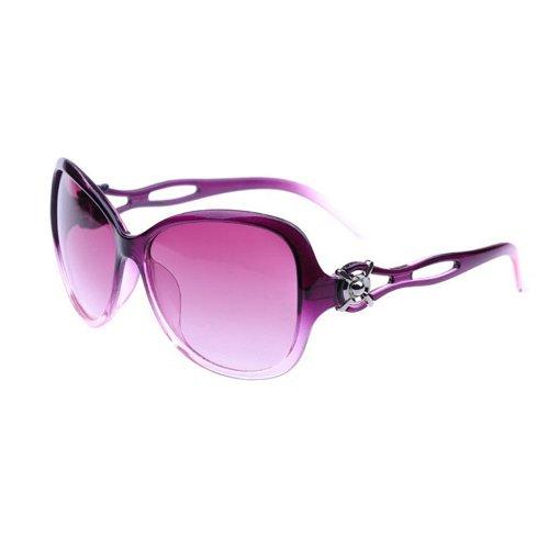 niceeshop(TM) Fashion Vintage Ladies Hollow Out Large Sunglasses,Purple