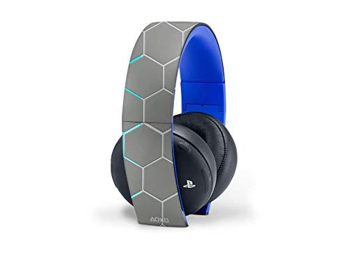 Skins4u Aufkleber Design Schutzfolie Vinyl Skin kompatibel mit Sony PS4 Playstation 4 Wireless Headset 2.0 Exo Grey Rainbow