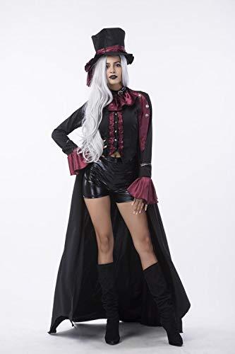 wnddm Halloween Vampir Paar Kostüme Herren Bloody Handsome Kostüm Damen Steampunk Vampirin Uniformen Bloody Countess Kits@Frau_XL (Steampunk Paar Kostüm)