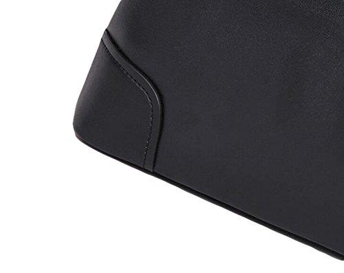 Leder Schultertasche Kuriertasche Handtasche Computer Tasche Aktenkoffer Business Paket Männer Tasche Freizeit Wilden Temperament Black