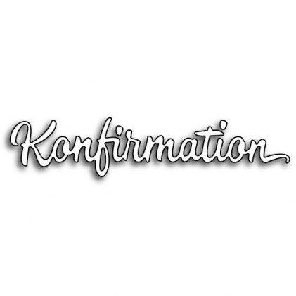 Karten-Kunst Stanzschablone Stanze Die für Big Shot und Co. - Große Texte Konfirmation