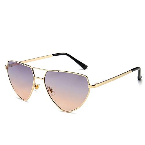 Fashion Sunglasses Europe and the United States Herren & Women Sonnenbrille Netz rot Catwalk Sonnenbrille lila wie abgebildet
