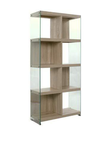 Wink Design Nancy Libreria, 8 Vani, Legno, Rovere, 71x30x159 cm
