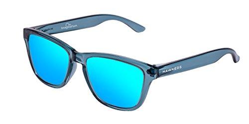 Hawkers Kids x Imaginarium-Blue Sharks, Gafas de Sol Unisex, Azul/Azul, 65