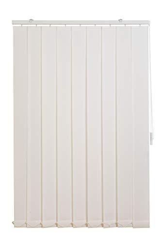 Sunlines HW5001 Vertikaler Lamellenvorhang Fixmaß, Stoff, weiß, 150 x 250 cm
