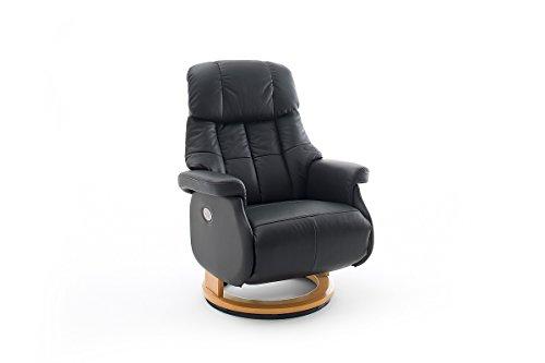 Robas Lund, Sessel, Relaxsessel, Calgary Comfort XL, Leder/schwarz/creme, 86 x 82 x 111 cm, 64037SN5