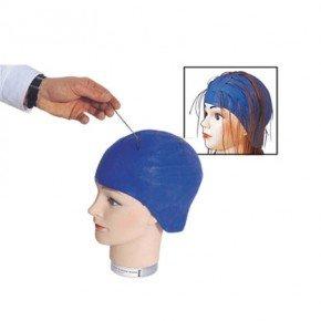 bonnet a meches caoutchouc bleu