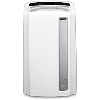 De'Longhi PAC AN112 Silent Mobiles Klimagerät (Max. Kühlleistung 2,9 kW/11000BTU/h, Separate Entfeuchtungsfunktion, Geeigent für Räume bis zu 110 m³) [Energieklasse A+]