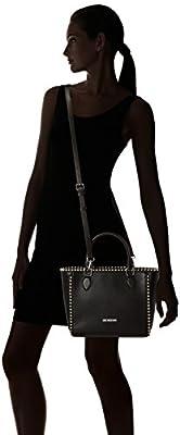 Love Moschino - Borsa Vitello Pebble Nero, Shoppers y bolsos de hombro Mujer, Negro (Black), 9x25x36 cm (B x H T) de Love Moschino
