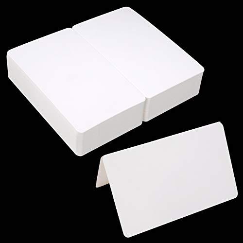 Cartes de Pliage Artisanales Blanches Vierges, Cartes de Voeux Cadeaux Bricolage, 9.2x15cm pour la Fête de Naissance de Noël, Paquet de 100