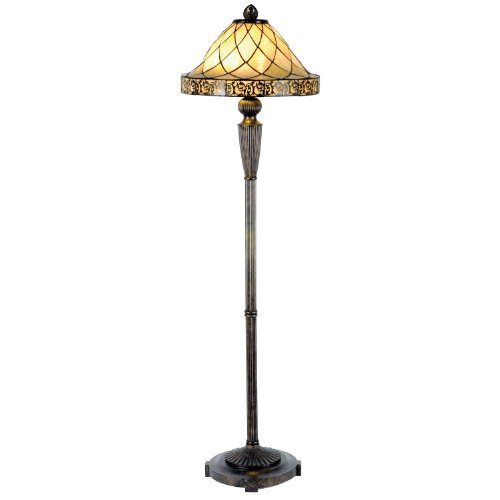 Lumilamp 5LL-5613 Stehlampe/Bodenlampe Art Deco Tiffany Stil Ø 46 * 168 cm 2X E27 max 60w dekoratives buntglas Tiffany Stil