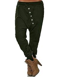 Zilosconcy Pantalones de chándal cagados para Mujer en Cierre de Cordones  Hippie Pantalón Deportivos de harén 636fcc7d35fa