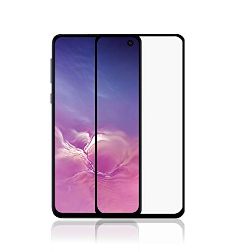 LONROL Película de vidrio templado para Samsung Galaxy S10E Pantalla de dureza protectora 9H 3D Pantalla completa Anti-Scratch Cubierta completa Alta protección para Samsung Galaxy S10E - Negro