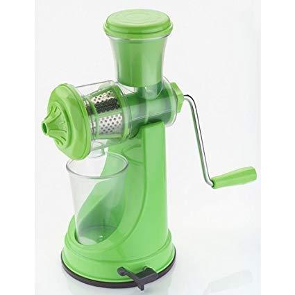 Frucht-Gemüse-manuelle Hand Juicer-königliches grünes BPA frei mit dem Gummigriff, leicht, bedienungsfreundlich nicht elektrisch