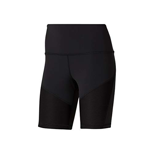 Reebok C Lux Bike Short Ribbbed Leggings da Donna, Donna, DP5827_XS, Nero, XS