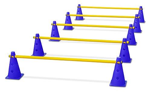 HAEST Steckhürdenset für Koordinationstraining - Blau-Gelb