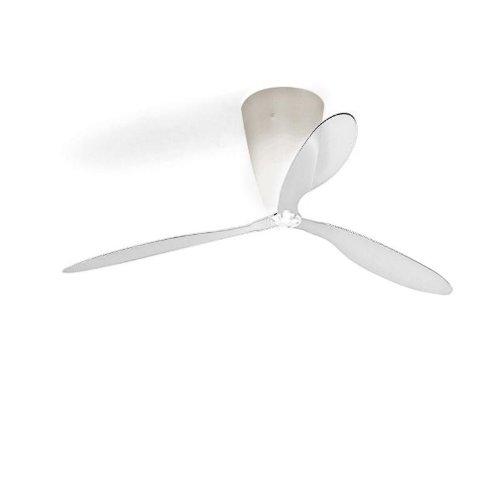 Luceplan blow - lampadario con ventilatore design trasparente/plastica/dimmerabile/con telecomando