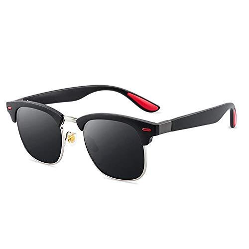 Womdee Polaroid Sonnenbrille Herren, 2019 Unisex Retro mit Markantem Halbrahmen Sonnenbrille 100% UV Schutz für Herren Damen Fahren Draussen