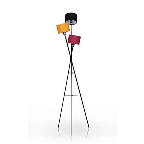 Stylische Design Stehleuchte VITA schwarz orange lila Lampe