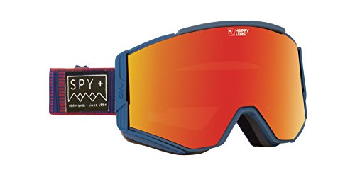 Spy ACE Stitched Blue Skibrille, red spec/Happy Lucid Green, One Size