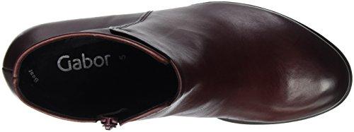 55 merlot 25 Vermelhas Curto Sapatos 780 Botas efeito Mulheres Gabor 5qf0vxWwza