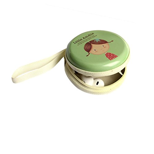 Tonsee® Mini Zipper écouteur Carte SD Box Bag Boîte de rangement de casque (Bleu) Vert