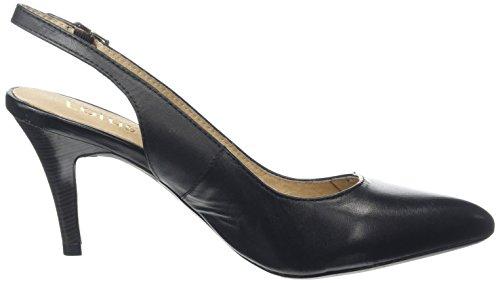 Lotus - Gloss, Decolleté aperte sul retro con tacco Donna Nero (Black (Black Blk))