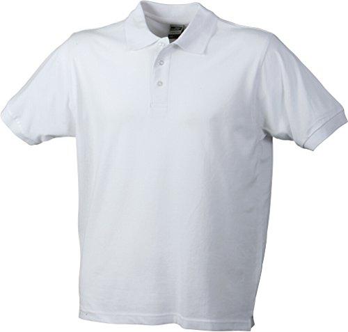 JAMES & NICHOLSON Strapazierfähiges klassisches Poloshirt White