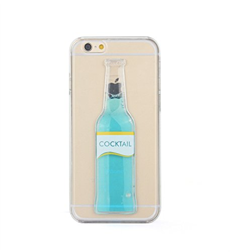 Tailcas® Custodia Cover per Apple iPhone 5 /5S, 3D Creative Design Ultra Slim Liquido Liquid (Bottiglia Bank)