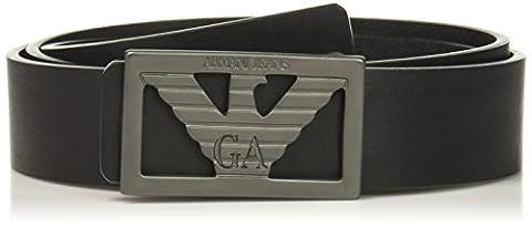 Armani Jeans 931061 Slim Leather Black Belt 105