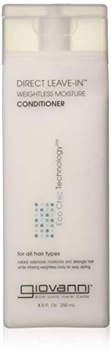 Giovanni Direct Leave-In Conditioner, Weightless Moisture, 8.5-Ounce Containers -