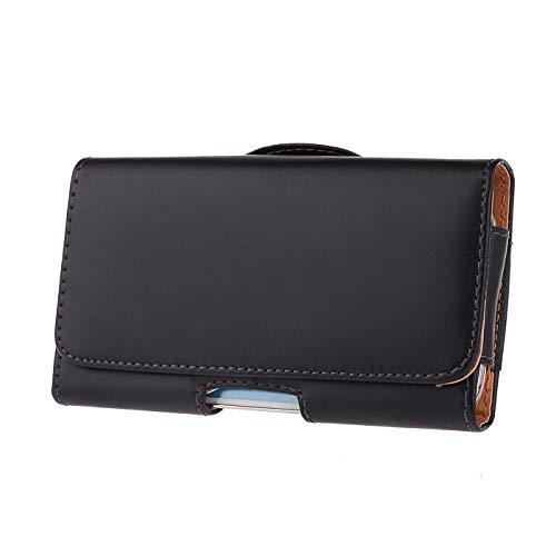 BRALEXX Gürteltasche Bauchtasche Quertasche Handy Tasche Clip Belt Schutz Bag Hülle Etui Case mit Gürtelhalterung für Huawei P20 / P20 Lite / P30 SCHWARZ - Schwarz Belt Tasche