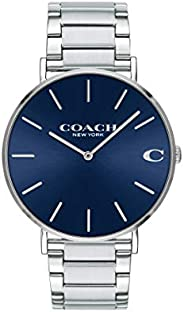 Coach Men's Navy Dial Stainless Steel Watch - 1460