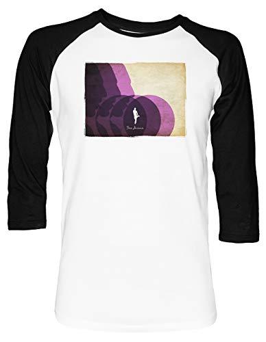 Das Jesus Unisex Baseball T-Shirt 2/3 Ärmel Herren Damen Weiß Schwarz