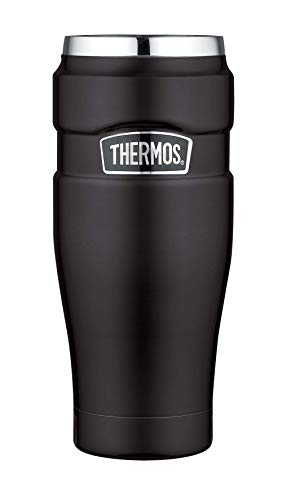 Thermos Coffee-to-Go Stainless King Thermobecher, edelstahl mat black, 0,47 l
