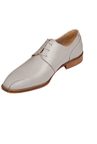 Chaussure Homme cuir Cérémonie Derby grise 3 trous Gris