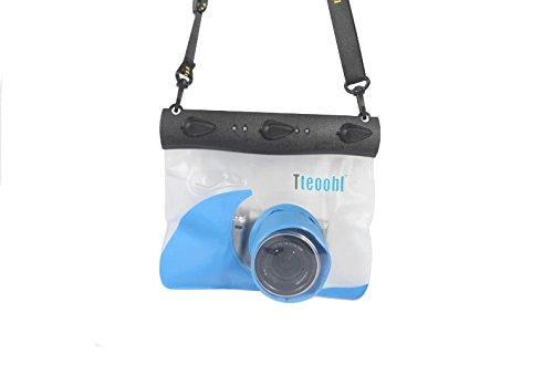 Tteoobl® Unterwasser 20m Universal DSLR SLR Unterwasser Wasserdicht casepouch Dry Bag für Digital spiegellose Kamera wie G12G11G10LX3LX55N Nikon J1NEX-7Sony NEX-F3GF3Samsung NX1000Long Lens Größe: L6.5cm * d6.8cm G10 G11 Digitale Kameras