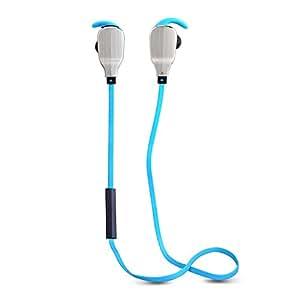 WM Sport Wireless Bluetooth CSR 4.0cuffie stereo con built-in Micro Hands Free Running auricolari H901Blu